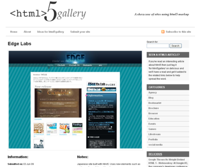 Edge Labs | html5 Gallery